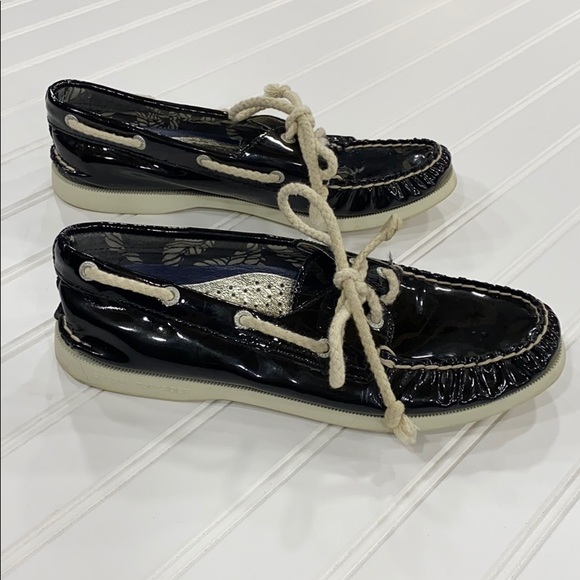 Sperry Shoes | Topsider Black Patent